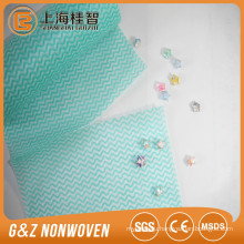 Needle punched nonwoven super absorbent cleaning wipe cloth , house wiping cloth